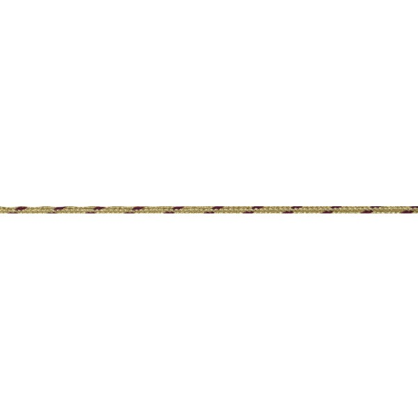 3mm – Gold - Maroon – Metallised Polyester – Braided Cord