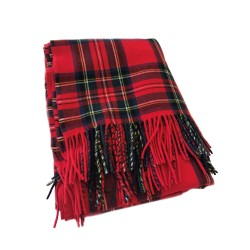 Royal Stewart Tartan Highland Scarf - Red/ Blue Neckwear