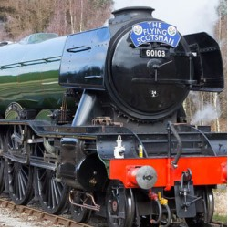 Flying Scotsman on the Worth Valley Railway.