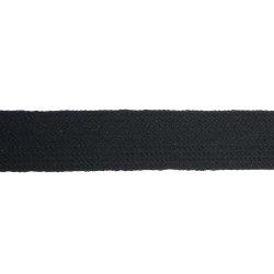 25mm – Black – Worsted – Flat Braid