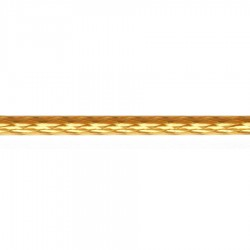 9mm Diamond Plait Braided Cord - 2% Gold