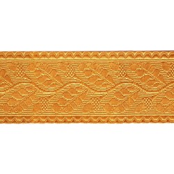 64mm - 2% Gold Thread - Oakleaf Lace