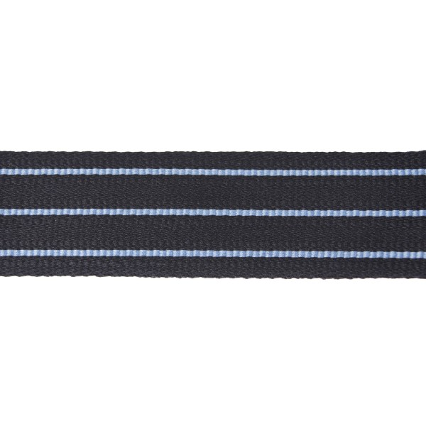 43mm 3 Bar Australian Black/Light Blue Ranking Lace Braid