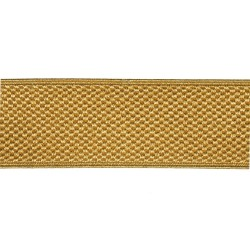 40mm – Gold 213 Metallised Polyester – Rib Lace