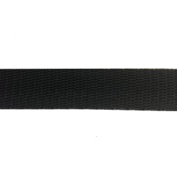 20mm – Black Polypropylene – Double Plain Weave - Webbing