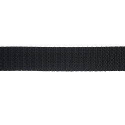 25mm – Black – Polypropylene – Double Plain Weave - Webbing