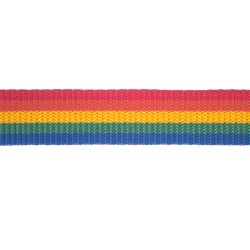 25mm – Rainbow Striped - Polyproylene - Double Plain Weave - Webbing