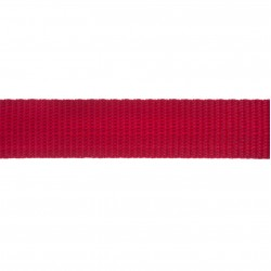 25mm – Red – Polypropylene – Double Plain Weave - Webbing