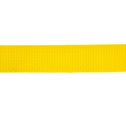 25mm – Yellow – Polypropylene – Double Plain Weave - Webbing