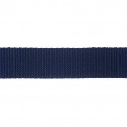 38mm – Dark Blue Navy - Polyproylene - Double Plain Weave - Webbing
