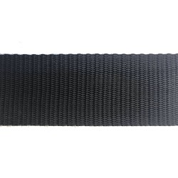 50mm – Black – Polypropylene – Double Plain Weave - Webbing