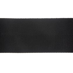75mm – Black – Polypropylene – Herringbone - Webbing