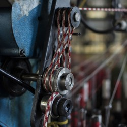 Braided Cord Being Manufactured on one of our Braiding Machines
